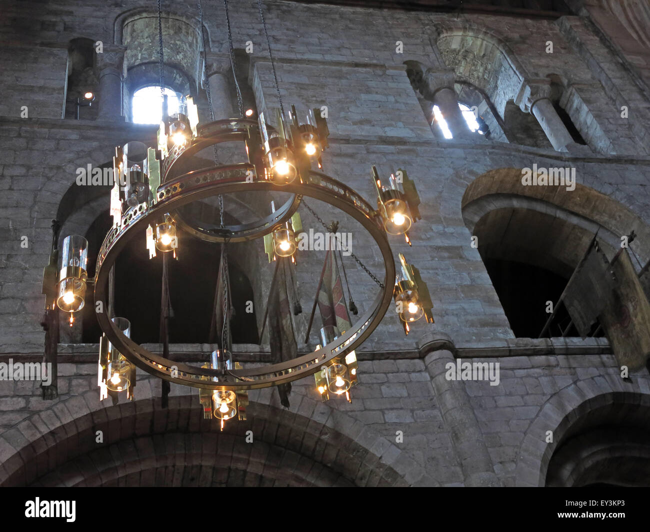 Lights at Carlisle Cathedral, Cumbria,England,UK - Stock Image
