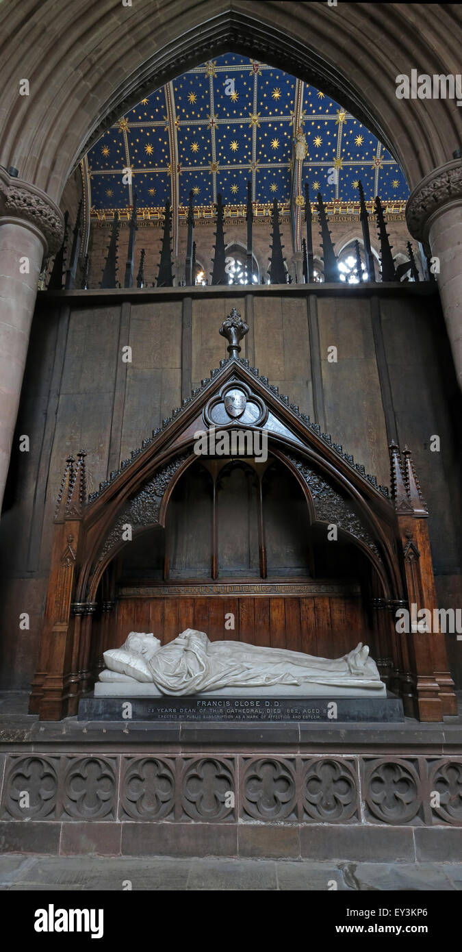 Tomb at Carlisle Cathedral, Cumbria,England,UK - Stock Image