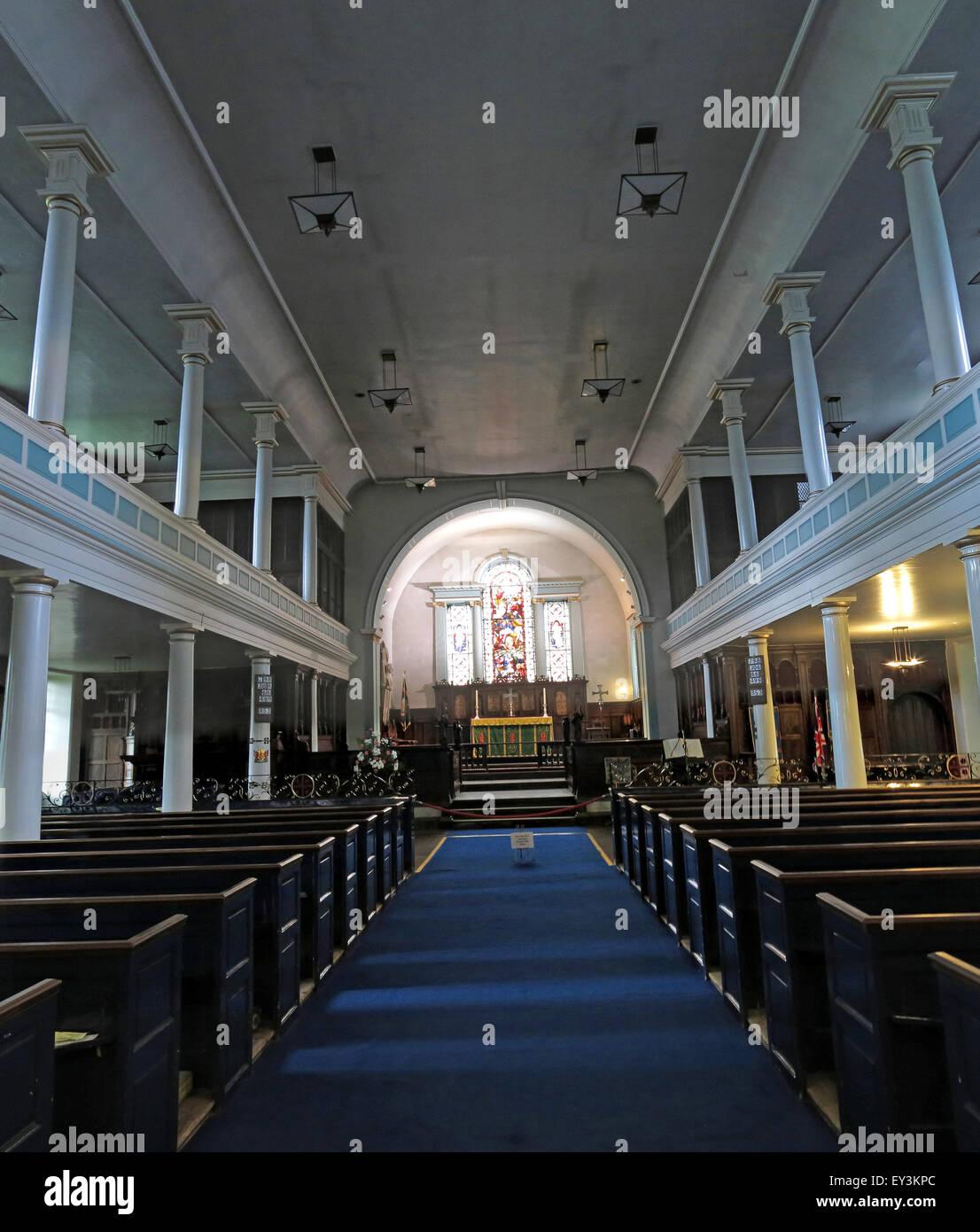 St Cuthberts Church,Carlisle,Cumbria,England,UK interior - Stock Image