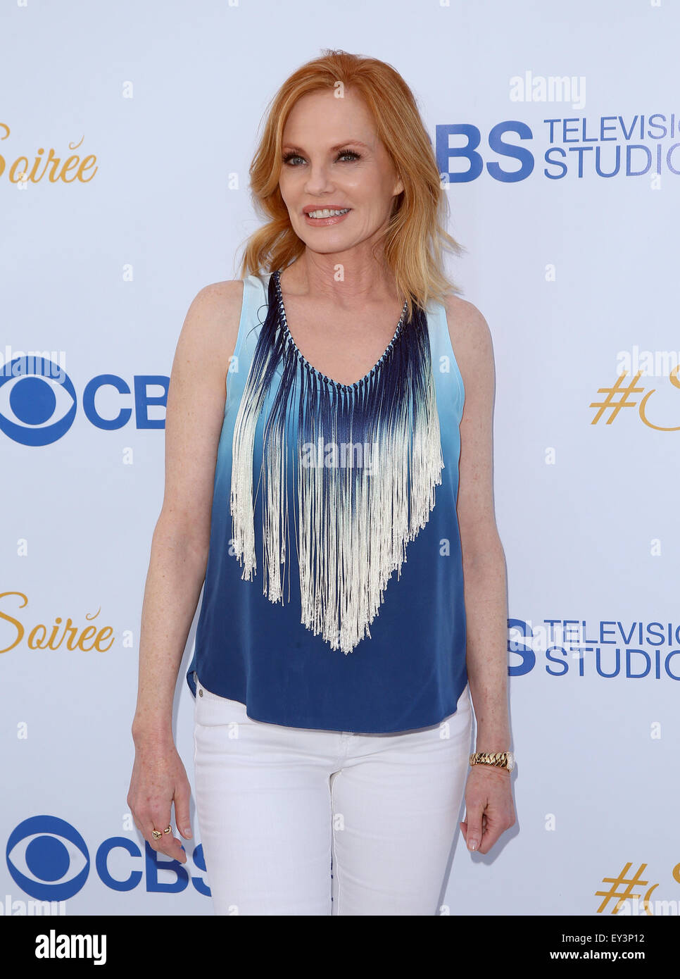 3rd Annual CBS Television Studios Rooftop Summer Soiree  Featuring: Marg Helgenberger Where: West Hollywood, California, Stock Photo