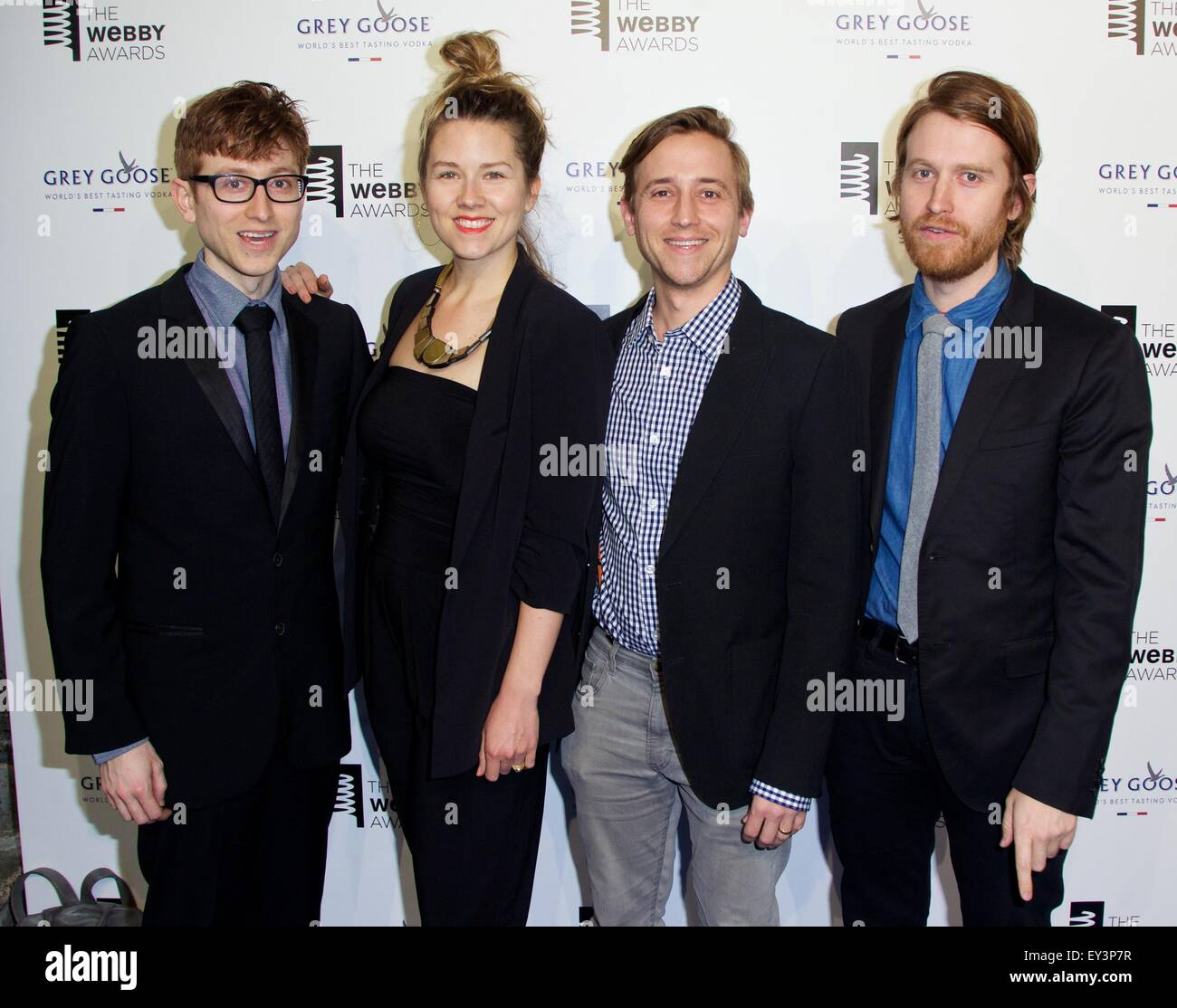 19th Annual Webby Awards at Cipriani Wall Street - Arrivals  Featuring: Michael Gregory, Sarah Fullen Gregory, Evan - Stock Image