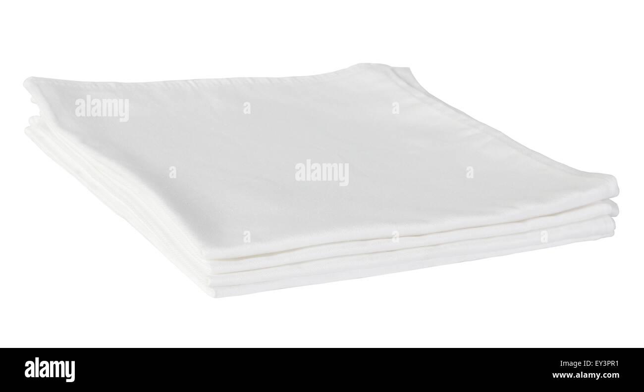 White Table Napkins - Stock Image