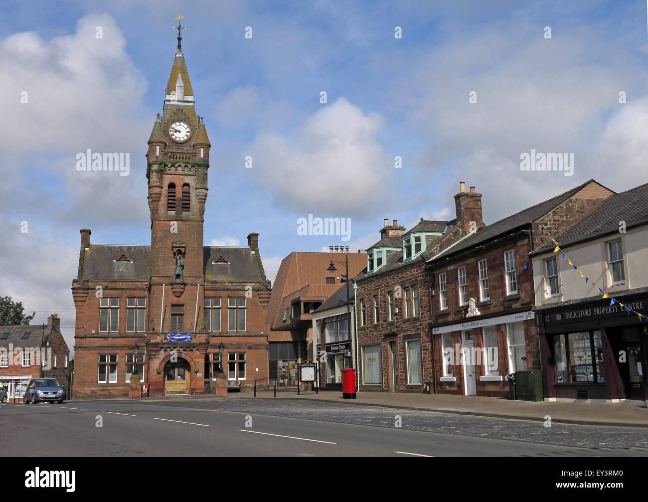 Annan town hall,Annan, Dumfries & Galloway - Municipal buildings - Stock Image