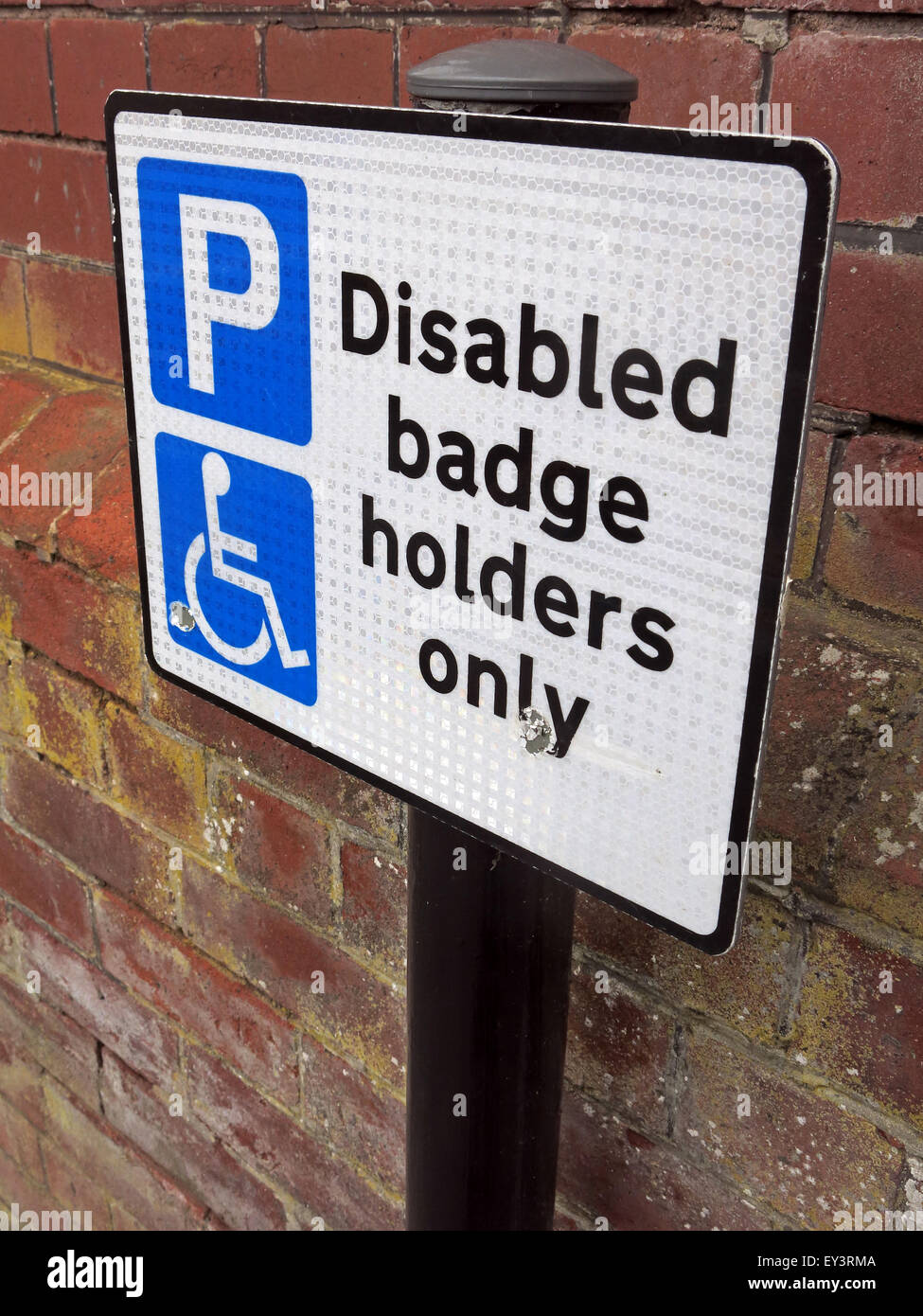 Disabled Badge holders Only sign - Stock Image