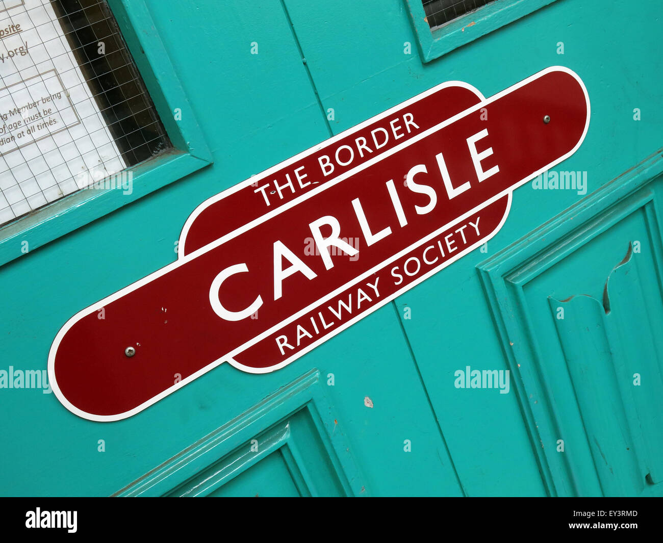 The Border Railway society, Carlisle, Cumbria, England, UK - Stock Image