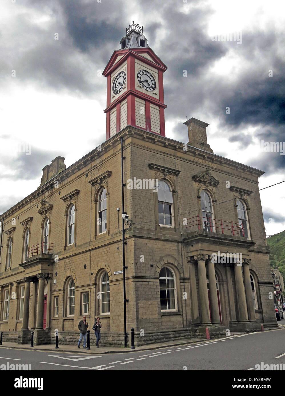 Marsden Mechanics Institute building, Kirklees, West Yorkshire,England,Uk Stock Photo