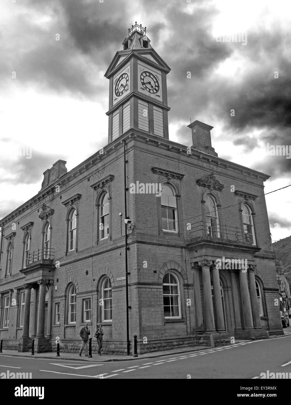 Marsden Mechanics Institute building, Kirklees, West Yorkshire,England,Uk - Stock Image