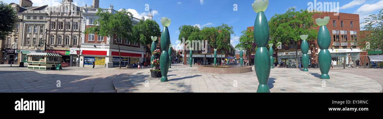 Warrington,Bridge St Skittles, The Guardians panorama, Cheshire,England,UK - Stock Image