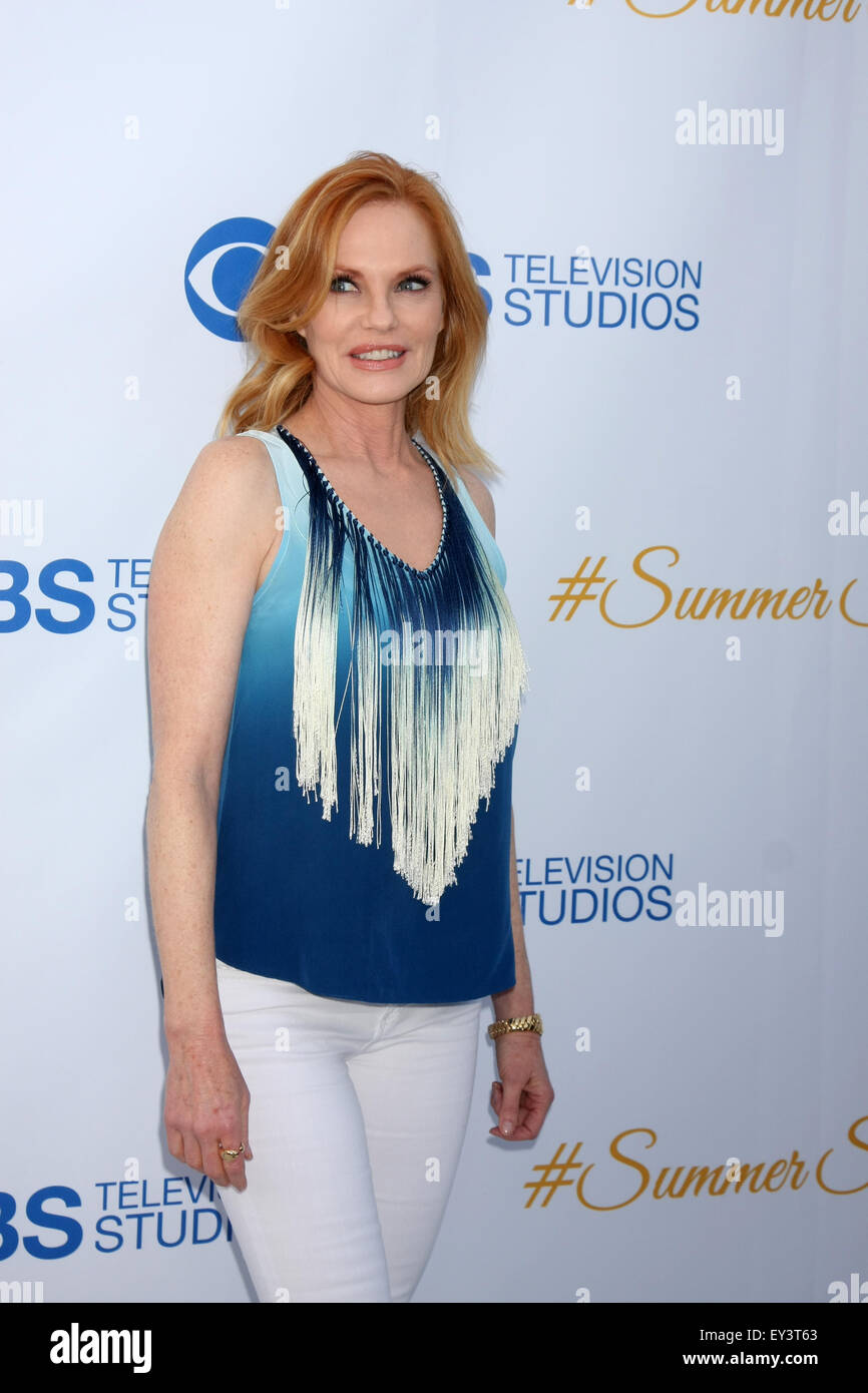 CBS Summer Soiree  Featuring: Marg Helgenberger Where: Los Angeles, California, United States When: 18 May 2015 Stock Photo