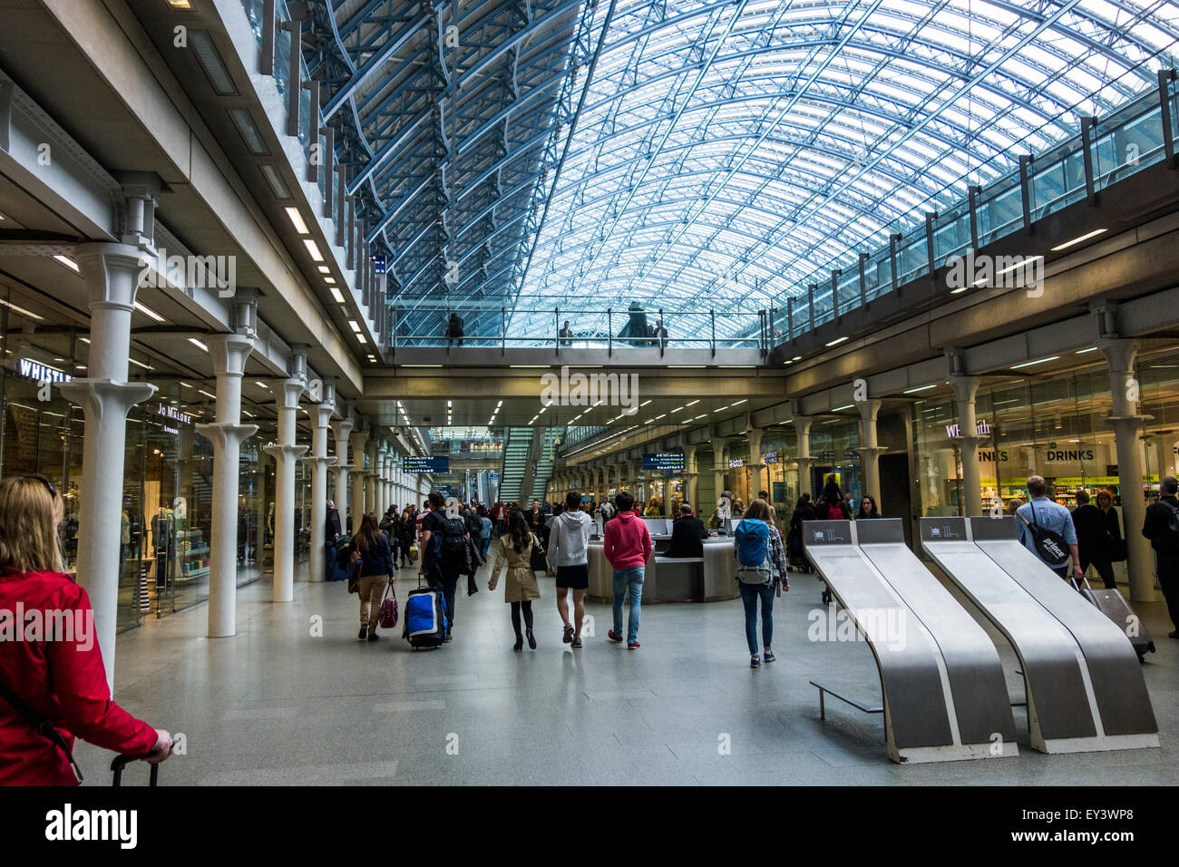 St Pancras International Station, London, England, UK. - Stock Image
