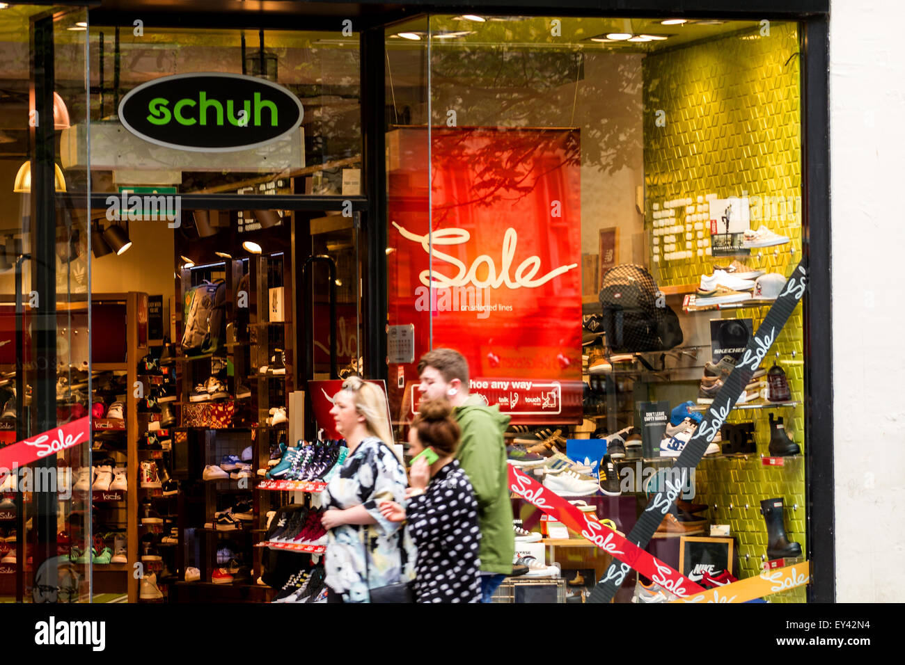 Dundee, Scotland, UK. 21st July, 2015. Sales: Mid Summer Sales in Dundee. Footwear and accessory store Schuh for Stock Photo