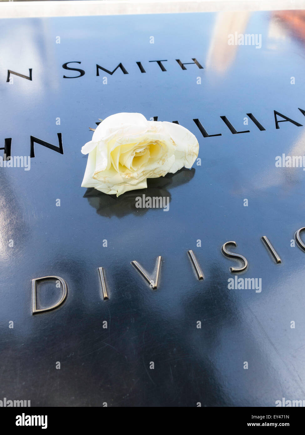 The National September 11 Memorial Site, Lower Manhattan, NYC - Stock Image