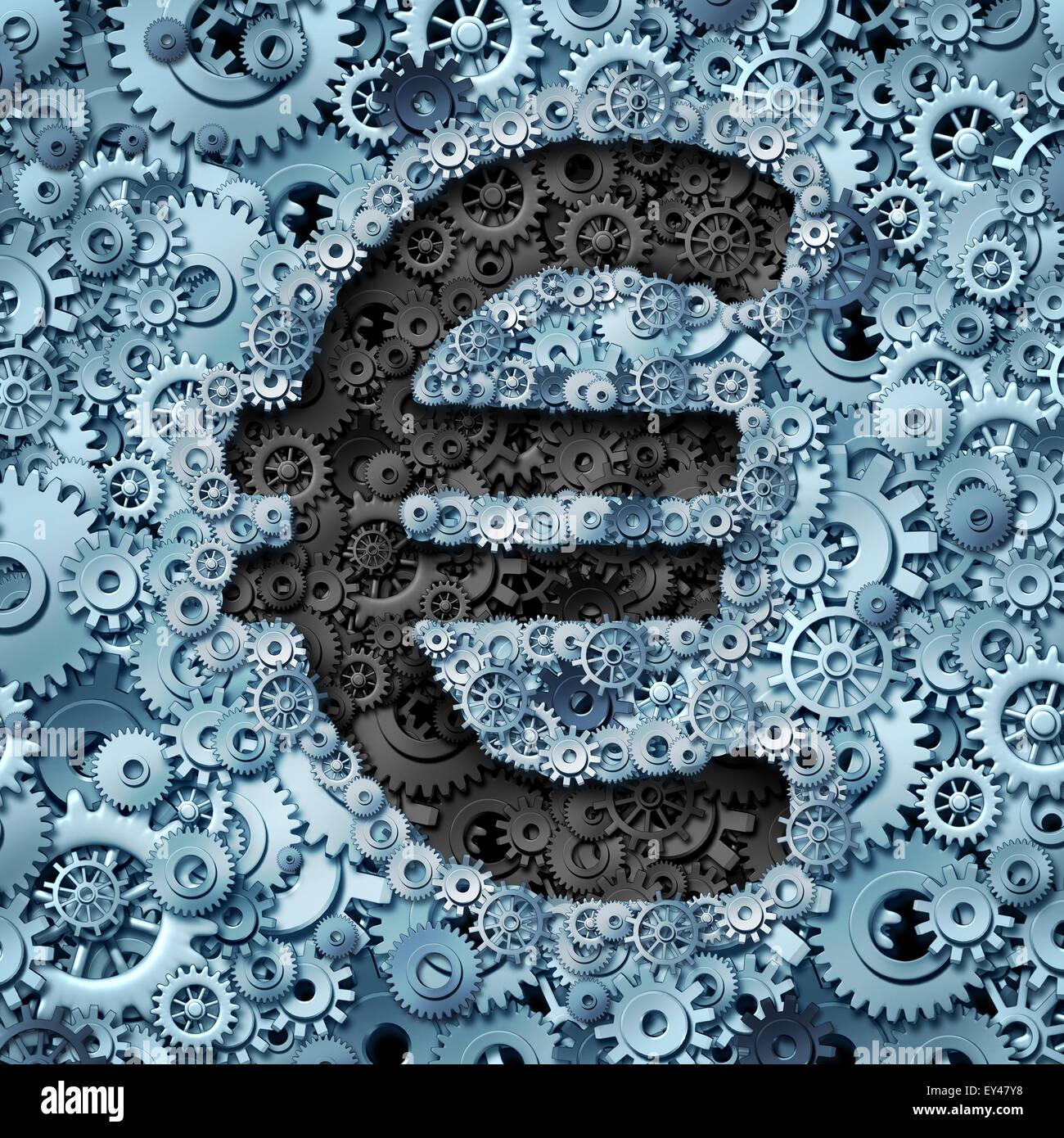 Euro banking industry currency machine as a financial business concept with the money icon from the European union - Stock Image