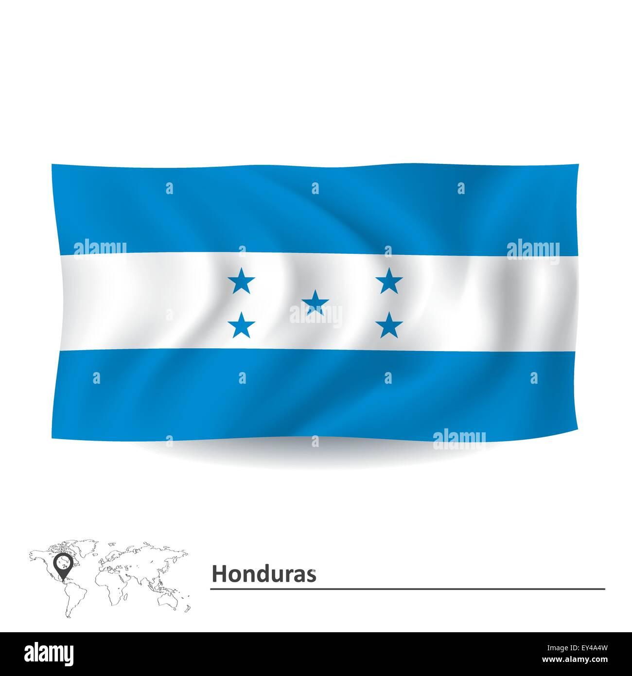 Flag of Honduras - vector illustration Stock Vector