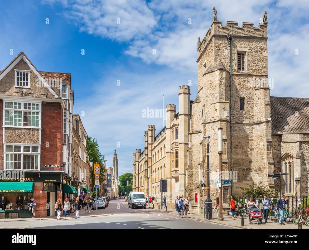 Corpus Christi College at Silver Street Cambridge Cambridgeshire England UK GB EU Europe - Stock Image