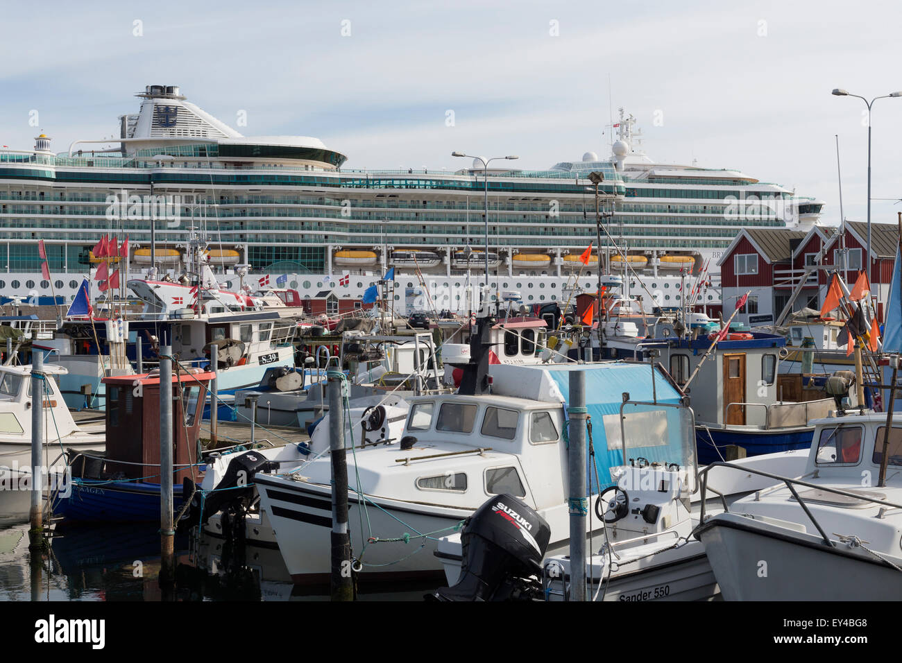The cruise vessel Brilliance of the Seas at Skagen. Stock Photo