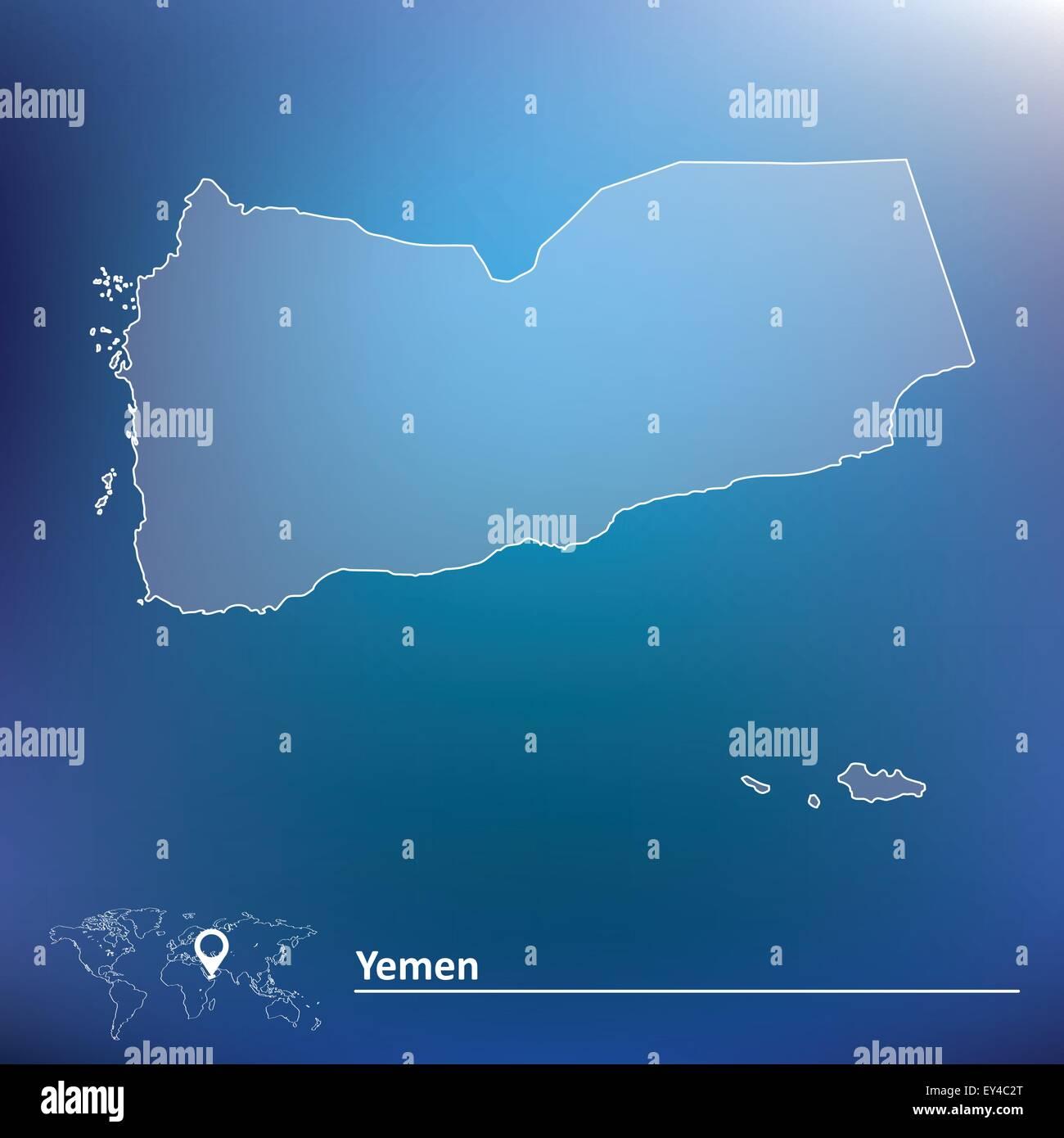 Map of Yemen - vector illustration - Stock Vector
