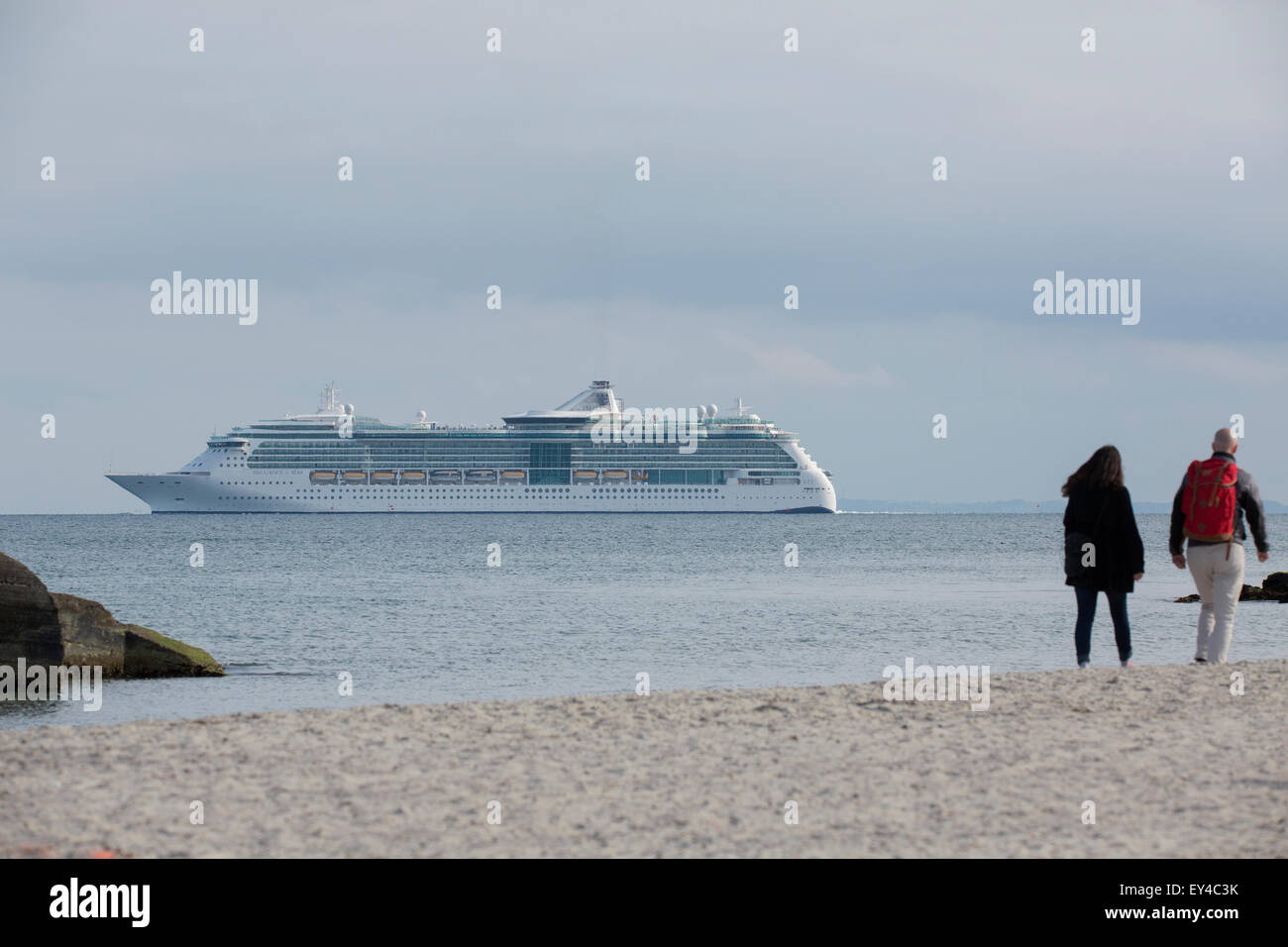 The cruise vessel Brilliance of the Seas at Skagen. - Stock Image