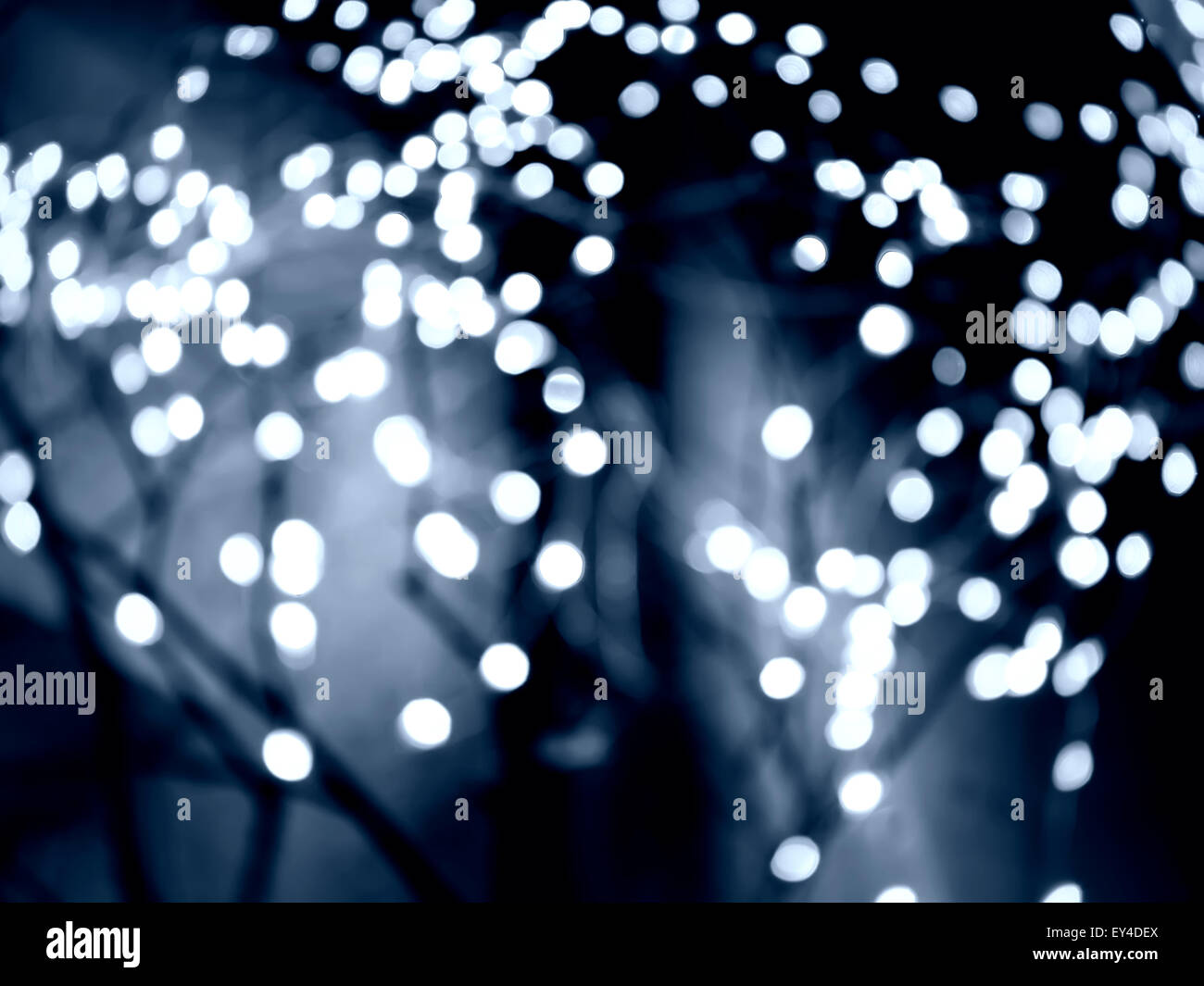image of bokeh with blue color - Stock Image