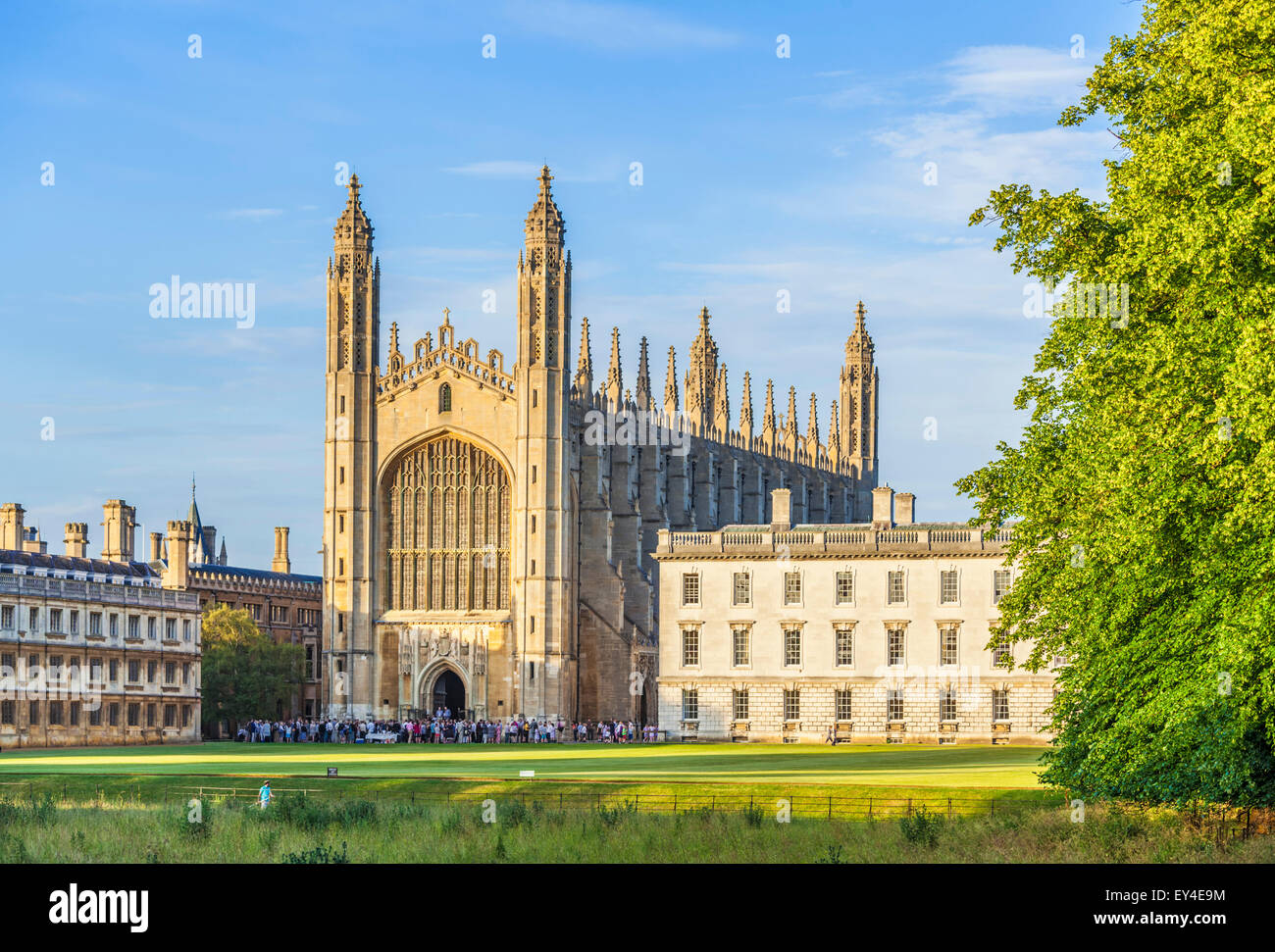 Kings College Chapel and Gibbs Building Cambridge University Cambridgeshire England UK GB EU Europe - Stock Image
