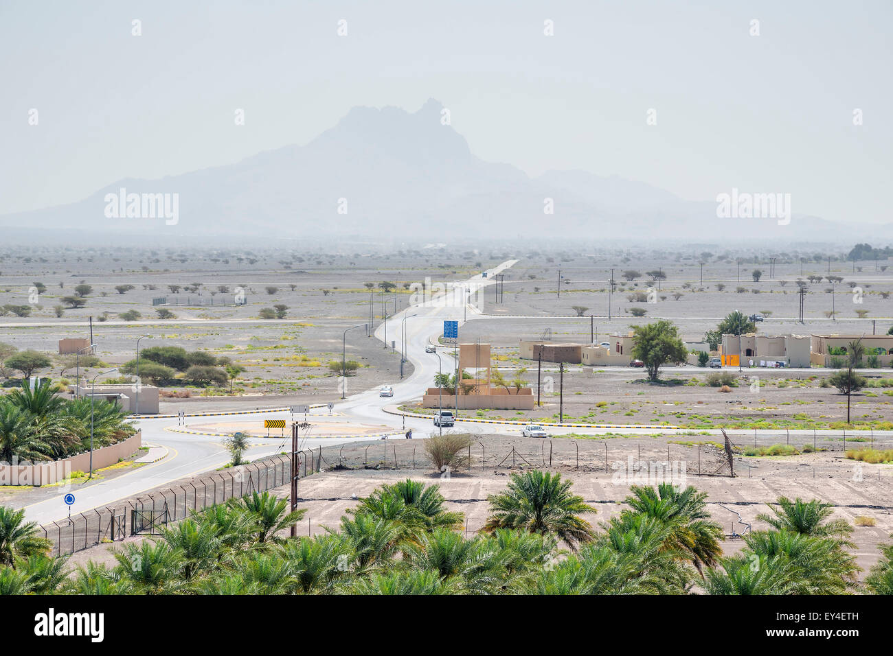 Image of landscape at fort jabreen in sultanate Oman, middle east - Stock Image