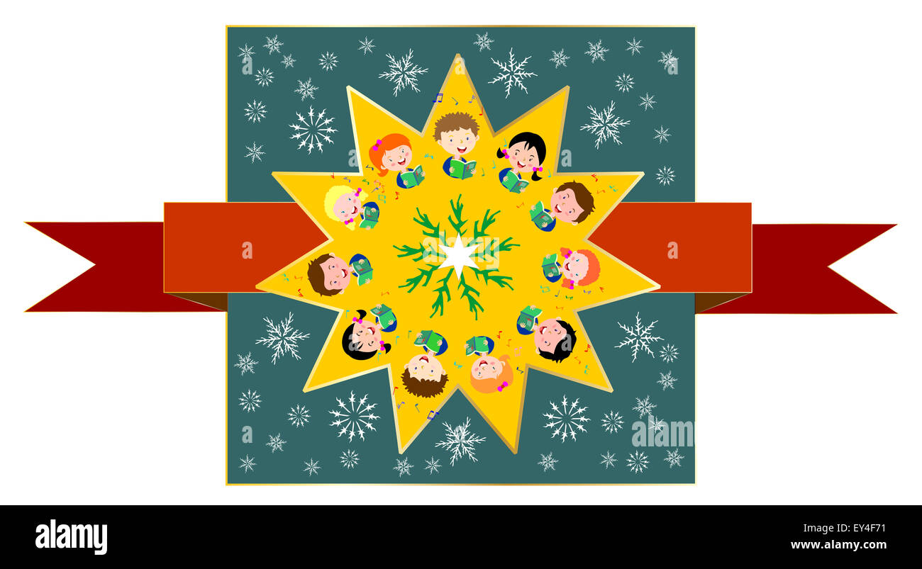 kids singing Christmas carols Stock Photo: 85536949 - Alamy