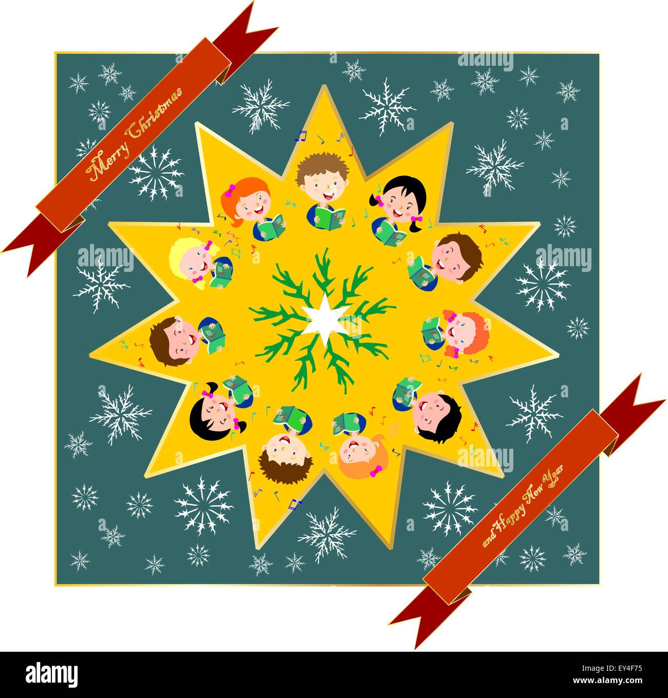 kids singing Christmas carols Stock Photo: 85536953 - Alamy