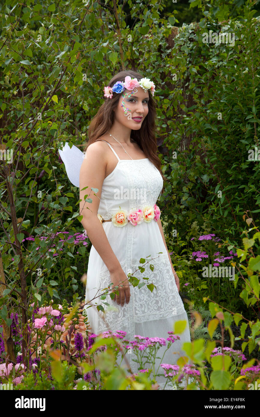 Tatton Park, Cheshire, UK 21st July, 2015. Titania_ Actress Helan Gale-Haseham; from Chester; Queen of the Fairies - Stock Image