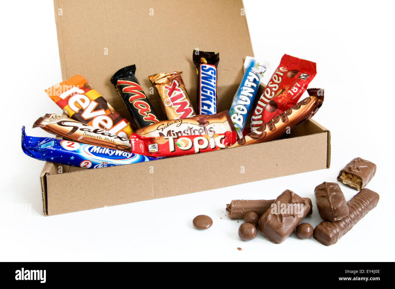 A box of Mars chocolate bar selection - Stock Image
