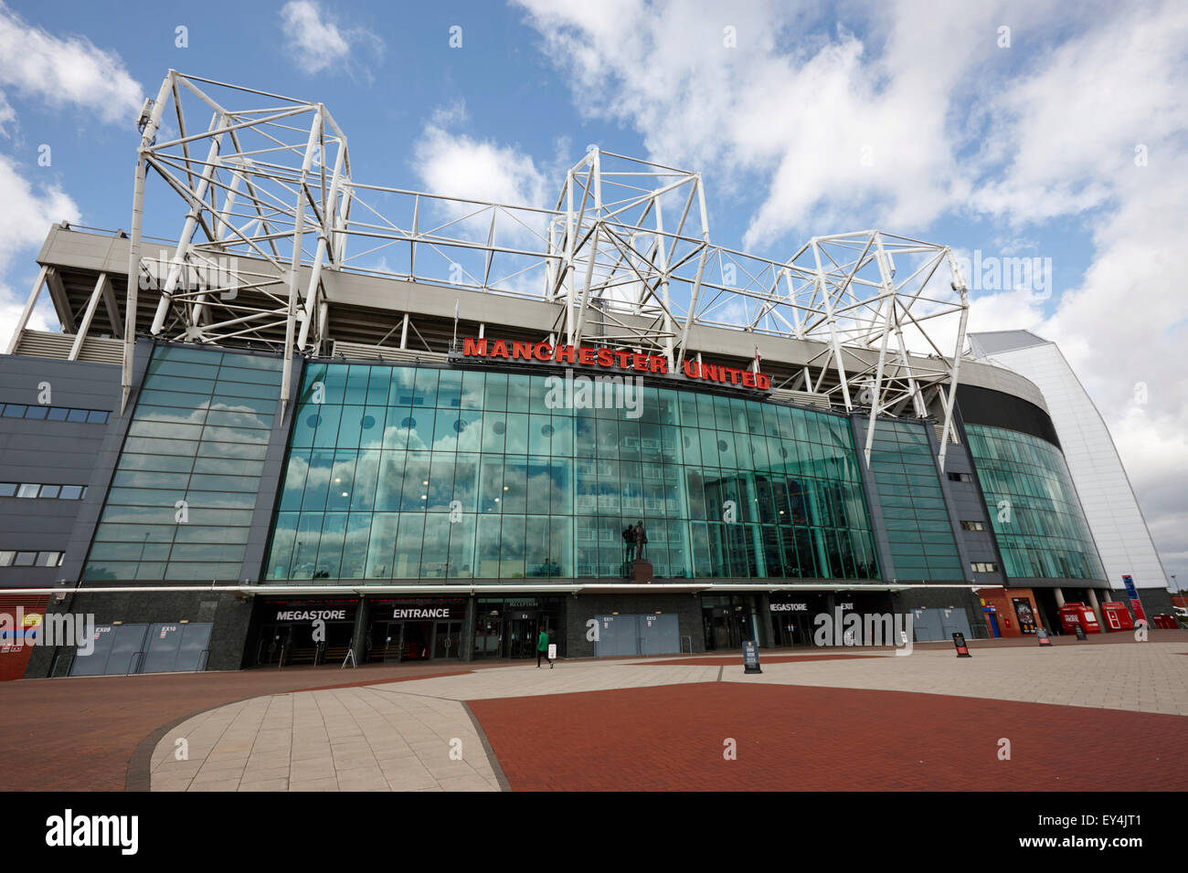 Manchester united old trafford stadium uk - Stock Image