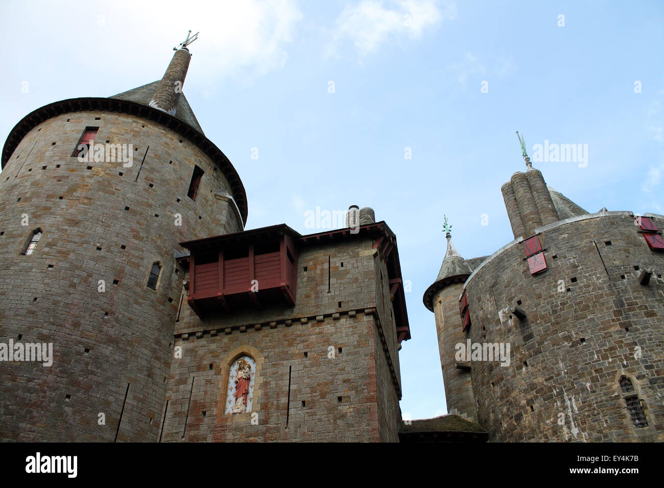 Castle or Castell Coch, Cardiff, South Wales, UK - Stock Image