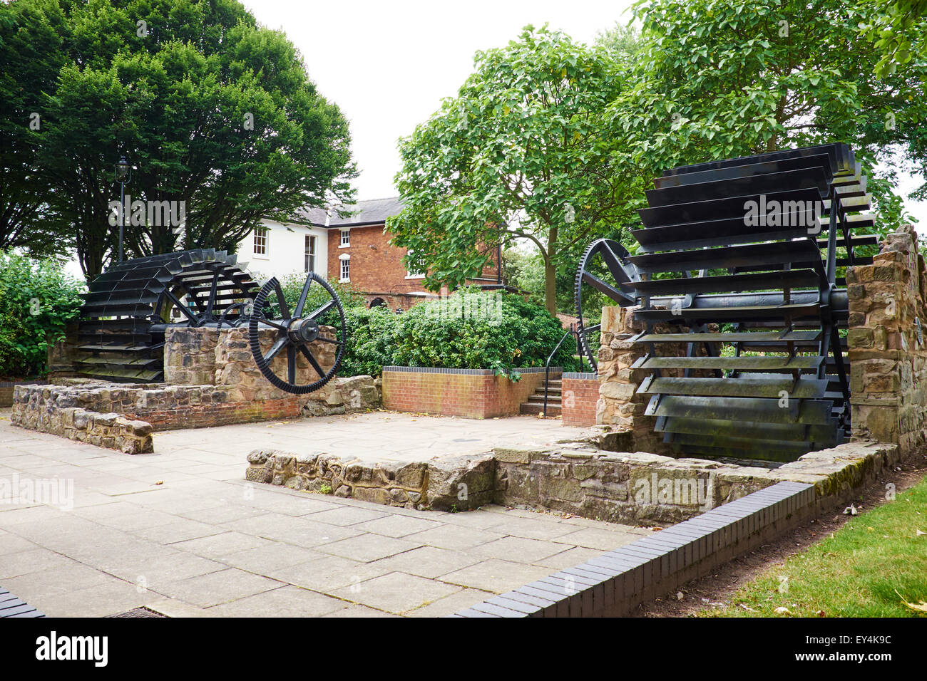 Remains Of The Old Town Mill Built By George Brewster In 1834 Mill Bank Stafford Staffordshire UK - Stock Image