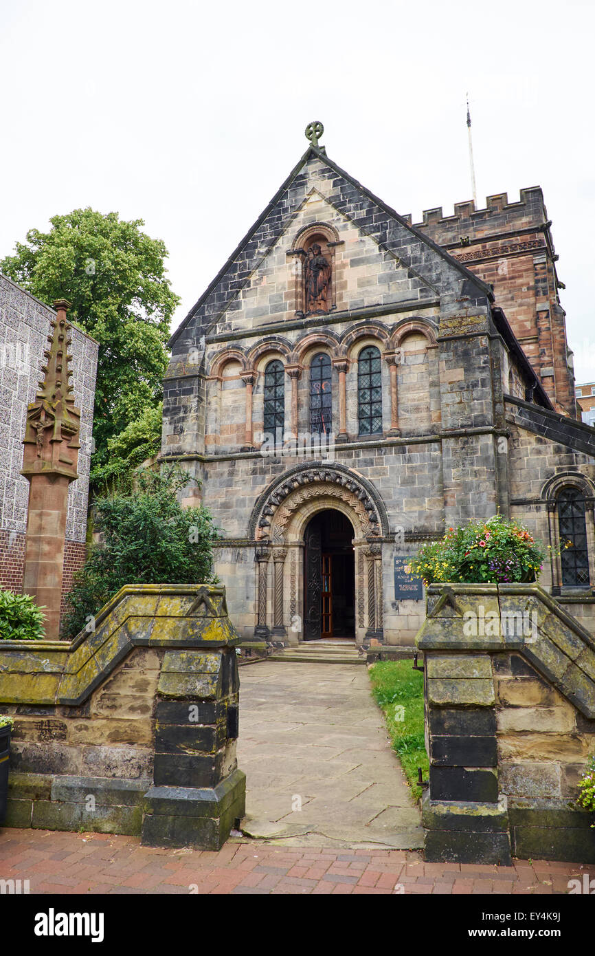 St Chads Church Greengate Street Stafford Staffordshire UK - Stock Image
