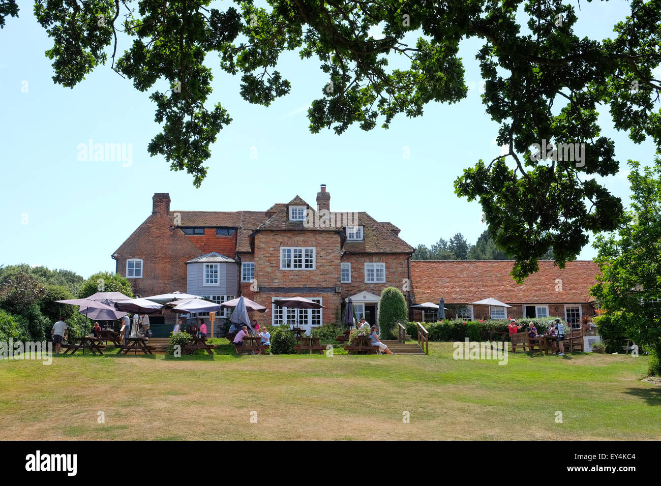 Buckler's Hard Master Builders Pub and Hotel in the New Forest Hampshire UK - Stock Image