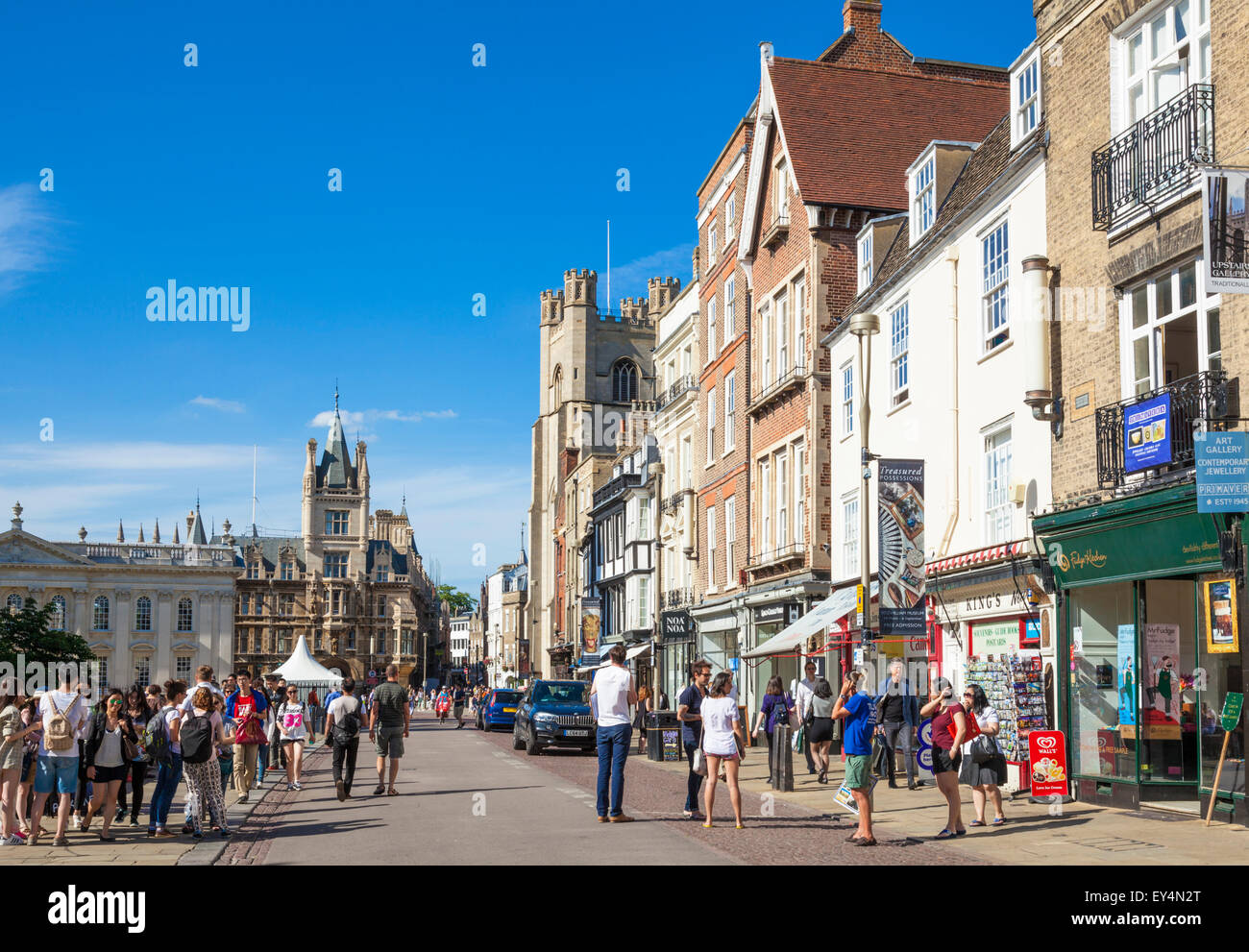 Kings Parade Cambridge City Centre Cambridge Cambridgeshire England UK GB EU Europe - Stock Image