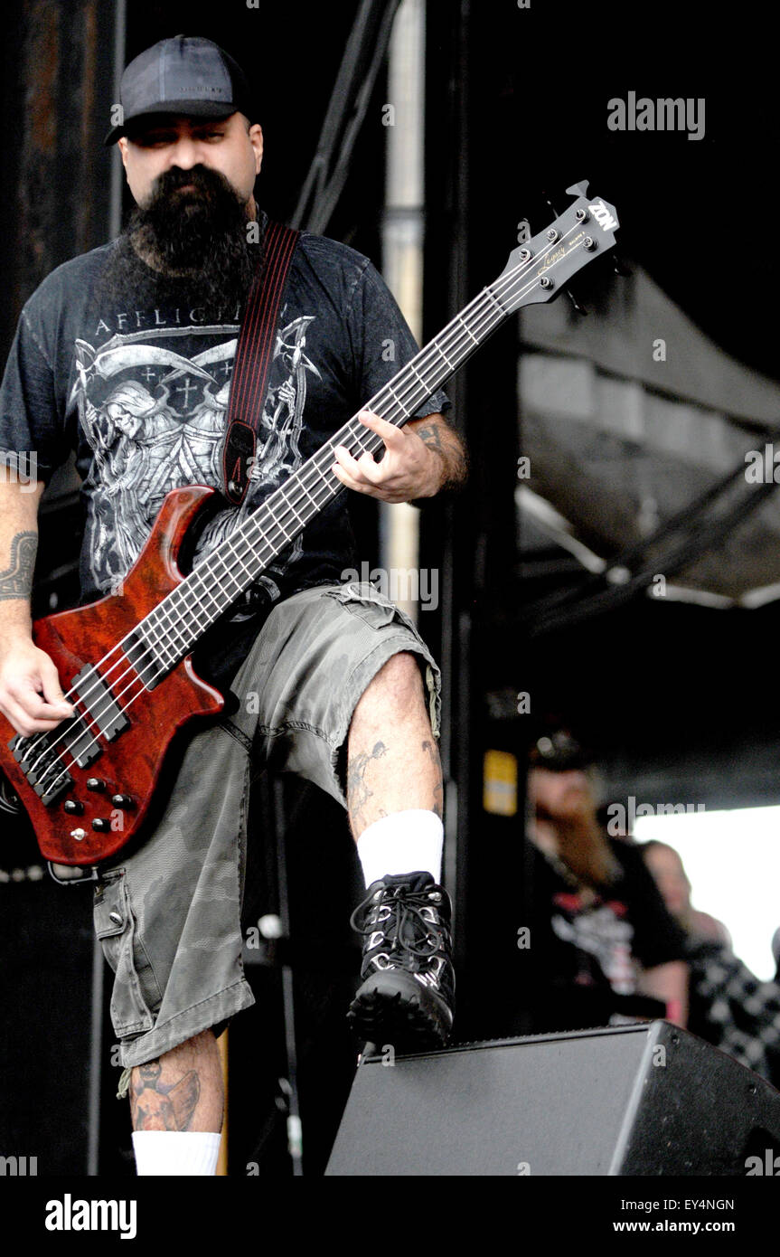 Rock on the Range Heavy Metal Music Festival at Mapfire Stadium in Columbus  Featuring: Ministry Where: Columbus, - Stock Image