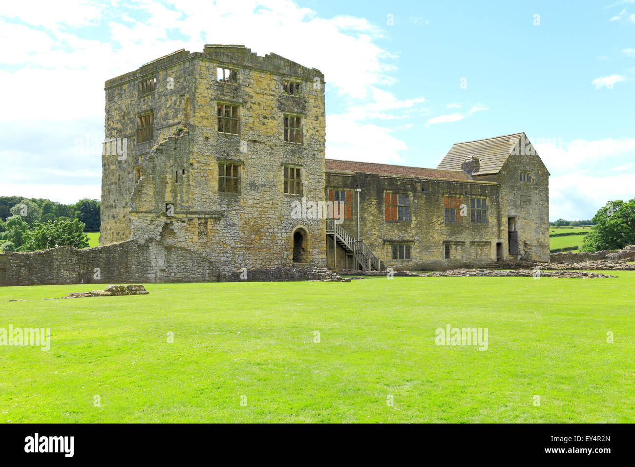 Helmsley Castle, 16th century residential buildings, Yorkshire England UK English castles - Stock Image