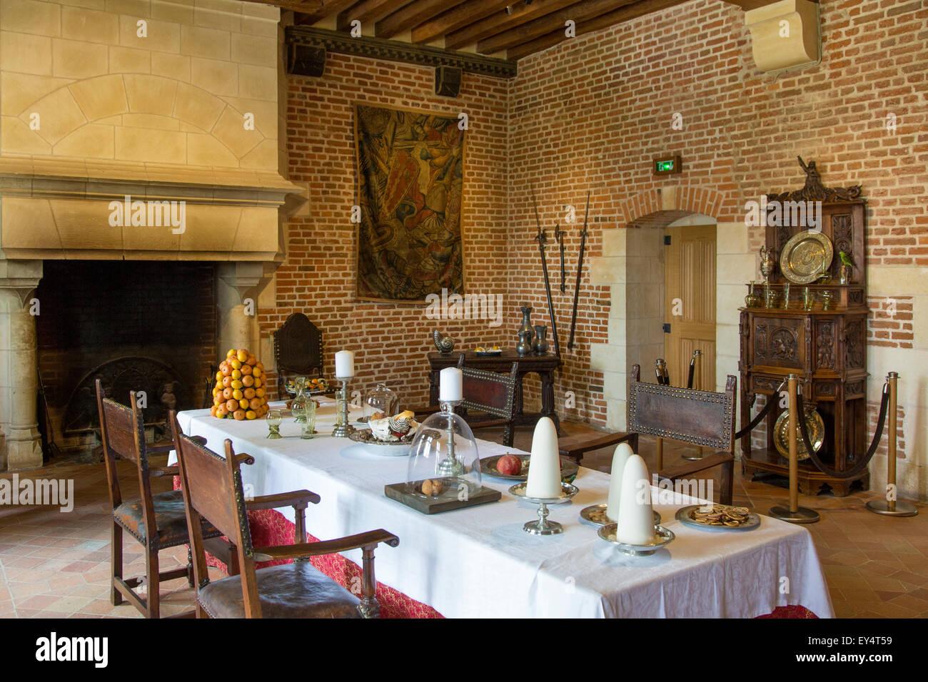 Dining Room At Chateau Clos Luce Leonardo Da Vinci S