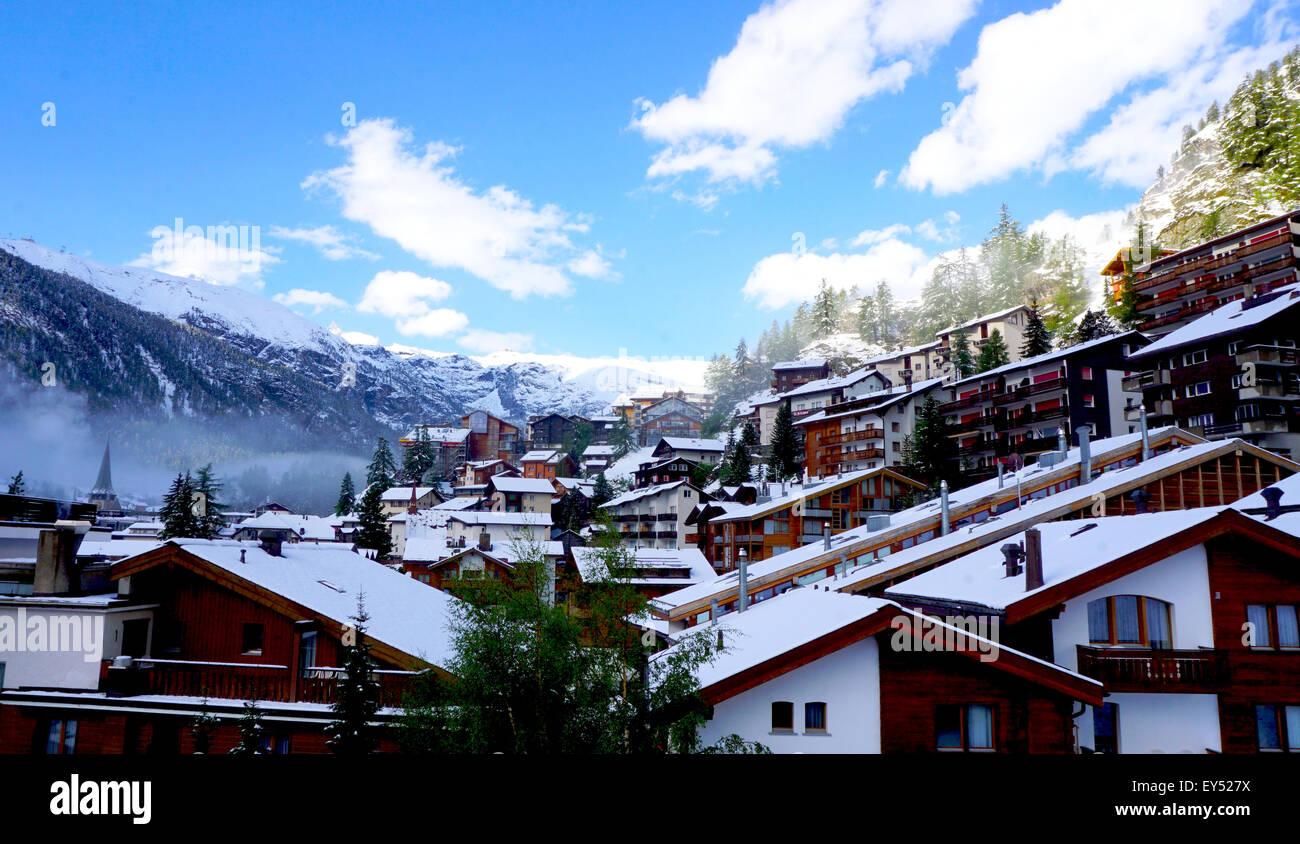 Viewpoints of Zermatt Switzerland Europe - Stock Image