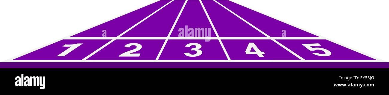 Running track in purple design Stock Vector