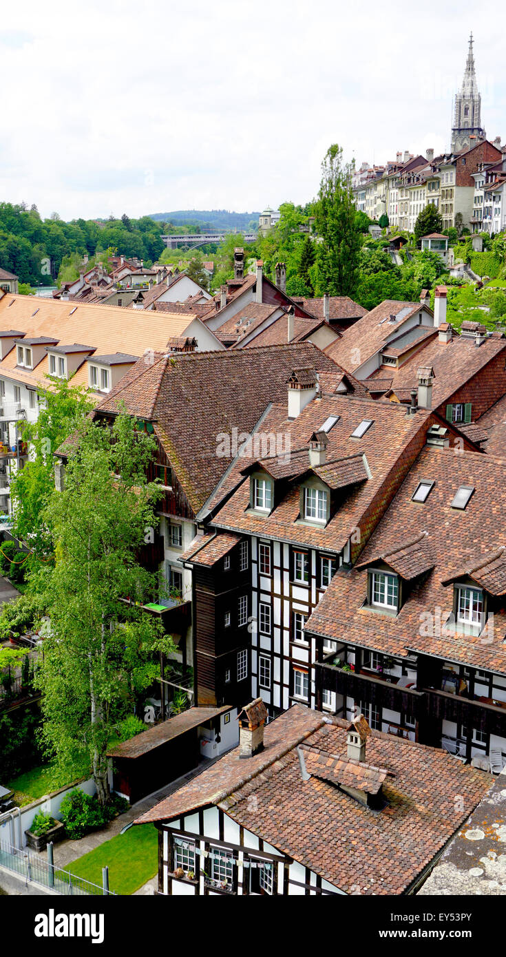 viewpoints historical old town Bern, Switzerland - Stock Image