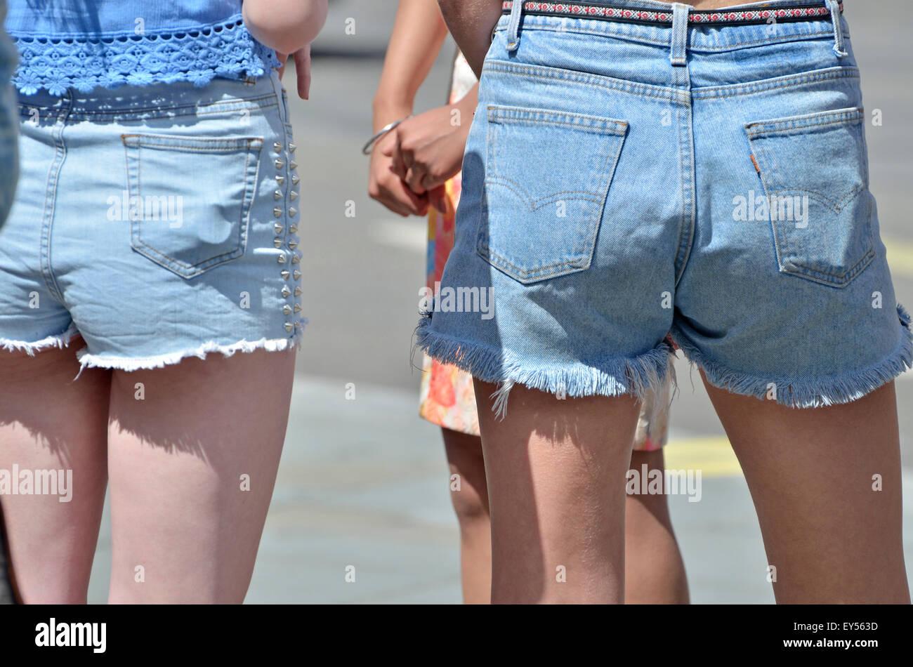 girl wearing shorts stock photos & girl wearing shorts stock images