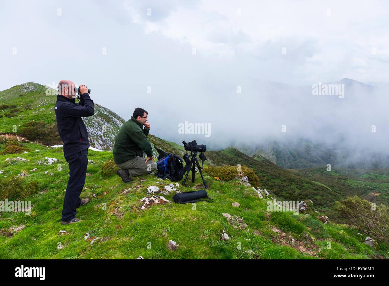 Birding trail - Asturias Spain - Stock Image
