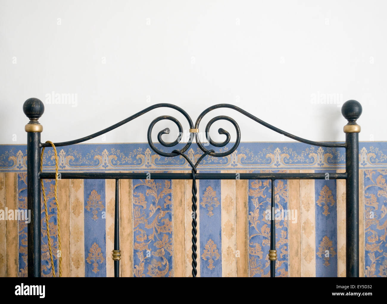 Iron retro bedstead - Stock Image