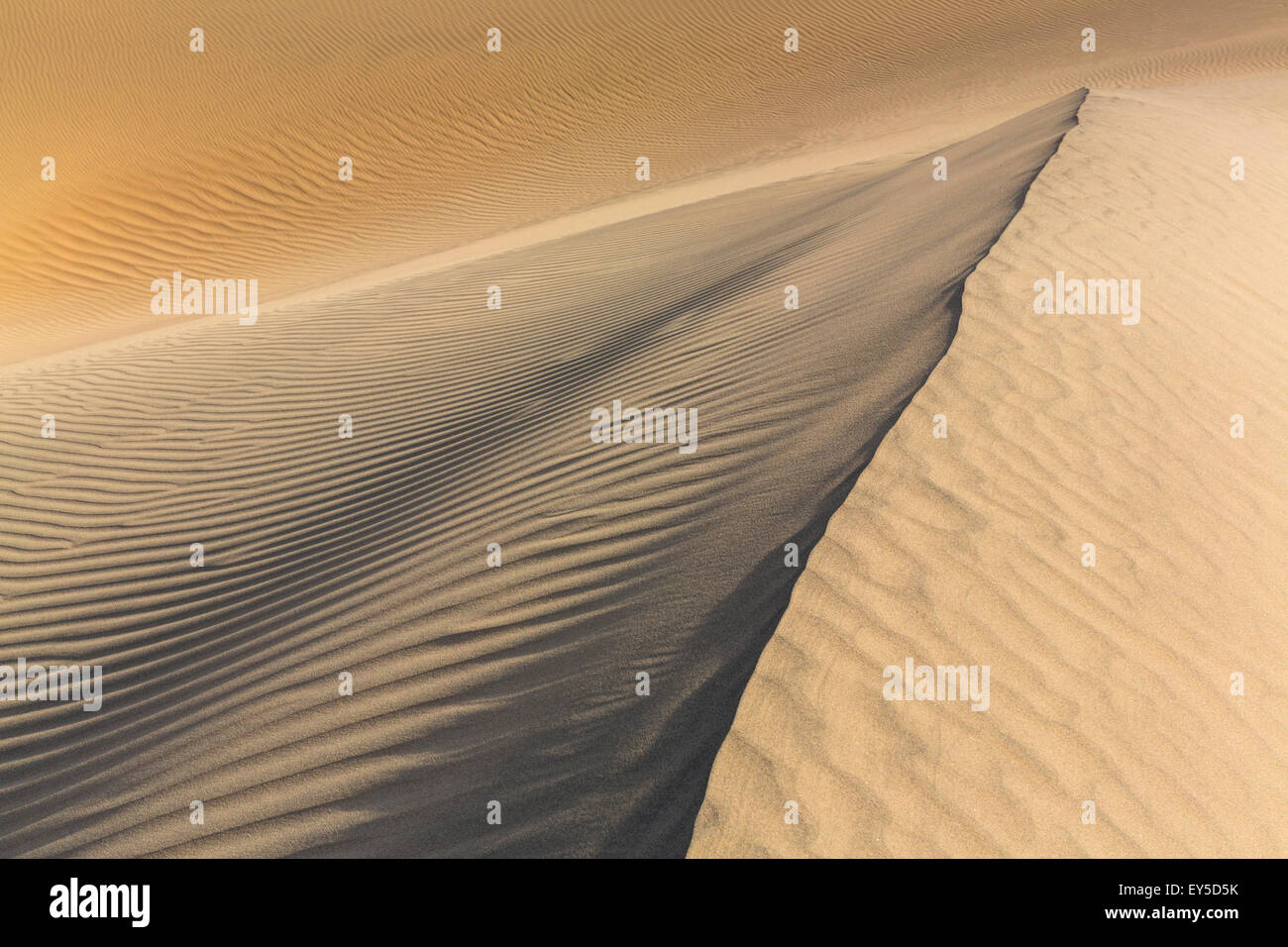 Mesquite Flat Sand Dunes - Death Valley NP California - Stock Image