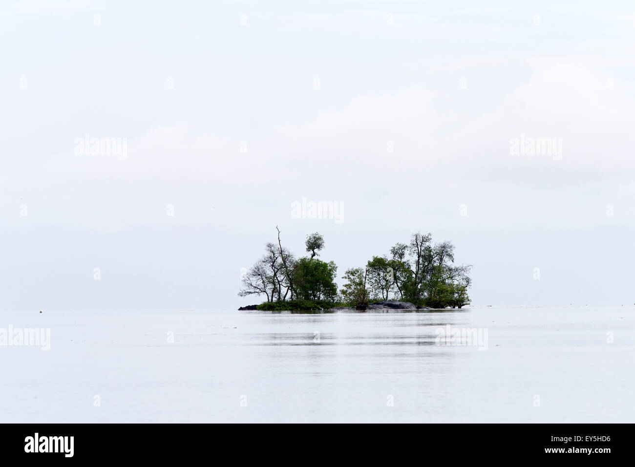 Mouth of the river in Salak South China Sea - Sarawak Borneo Stock Photo