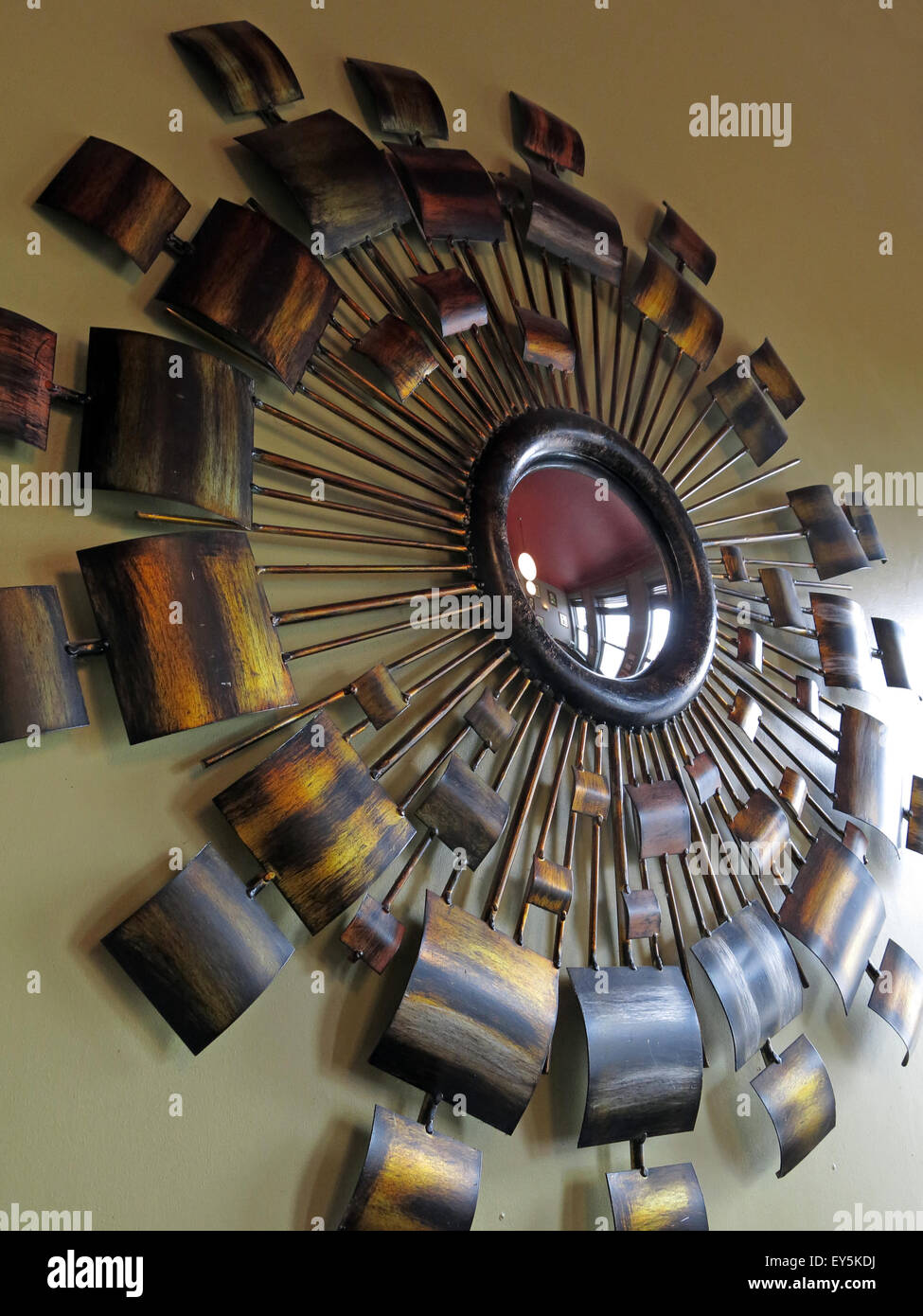 Decoration,mirror, The Sportsman Inn, Huddersfield, West Yorkshire, England, UK - Stock Image