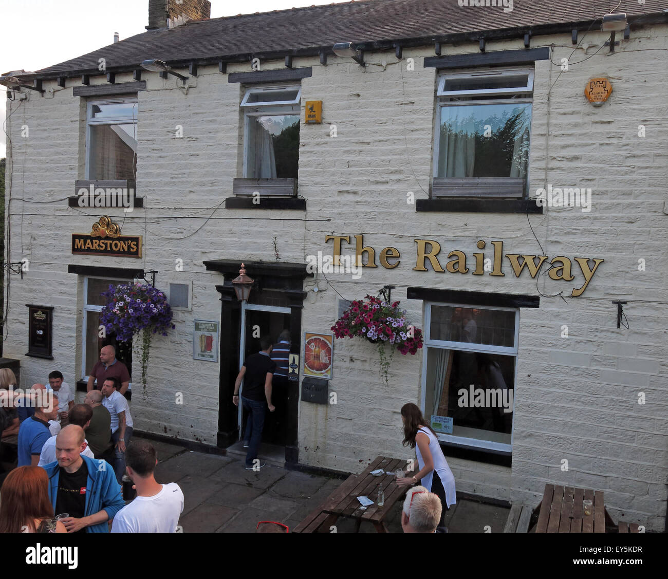 The railway Pub,Marsden, Kirklees, West Yorkshire,England,UK - Stock Image