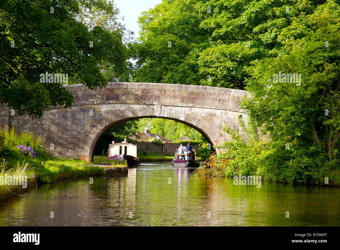 Lancaster Canal near Bolton-le-Sands, Lancashire - Stock Image
