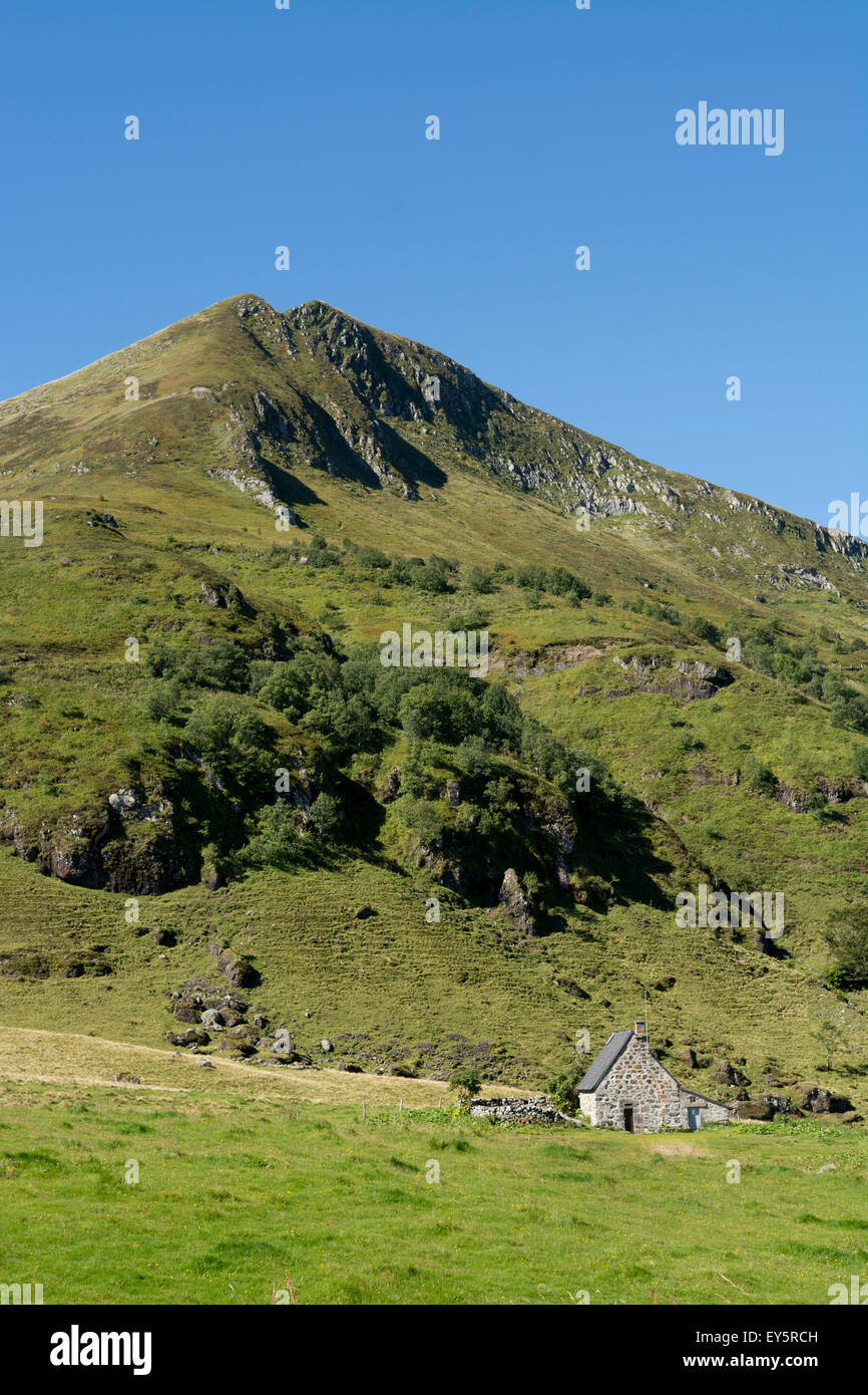 Stopover and Puy Mary - PNR des Volcans d'Auvergne France Altitude 1783m Ranked trusted France. - Stock Image
